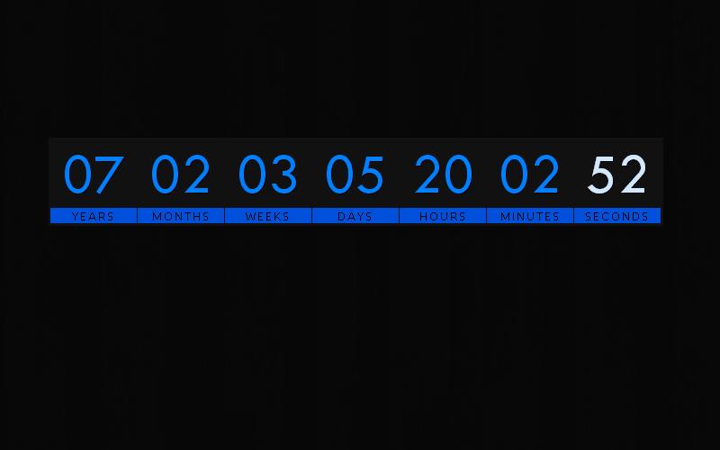 DRS Day Countdown Default Theme Demo