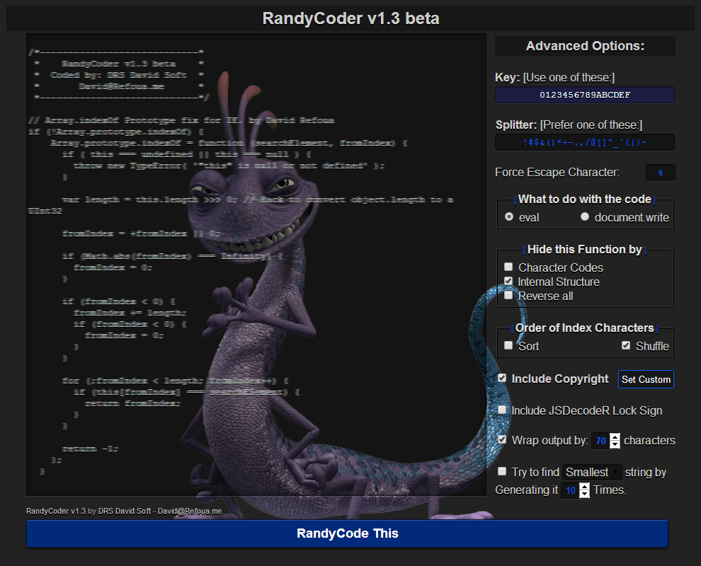 RandyCoder-v1.3 Screenshot