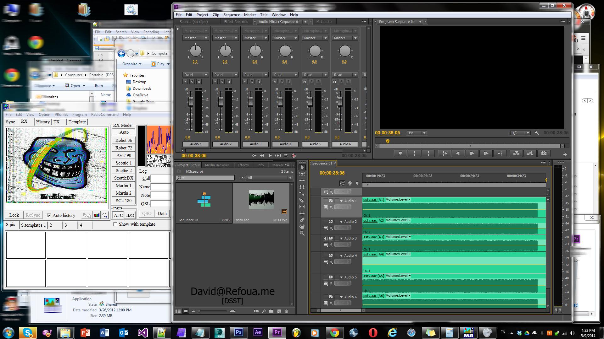 تفکیک 6 کانال صدا و تبدیل صدا به تصویر